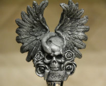 Skull With Wings Wine Stopper